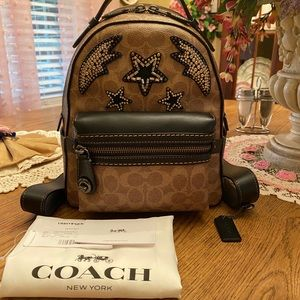 Coach Embellished Signature Campus 23 Backpack Bag